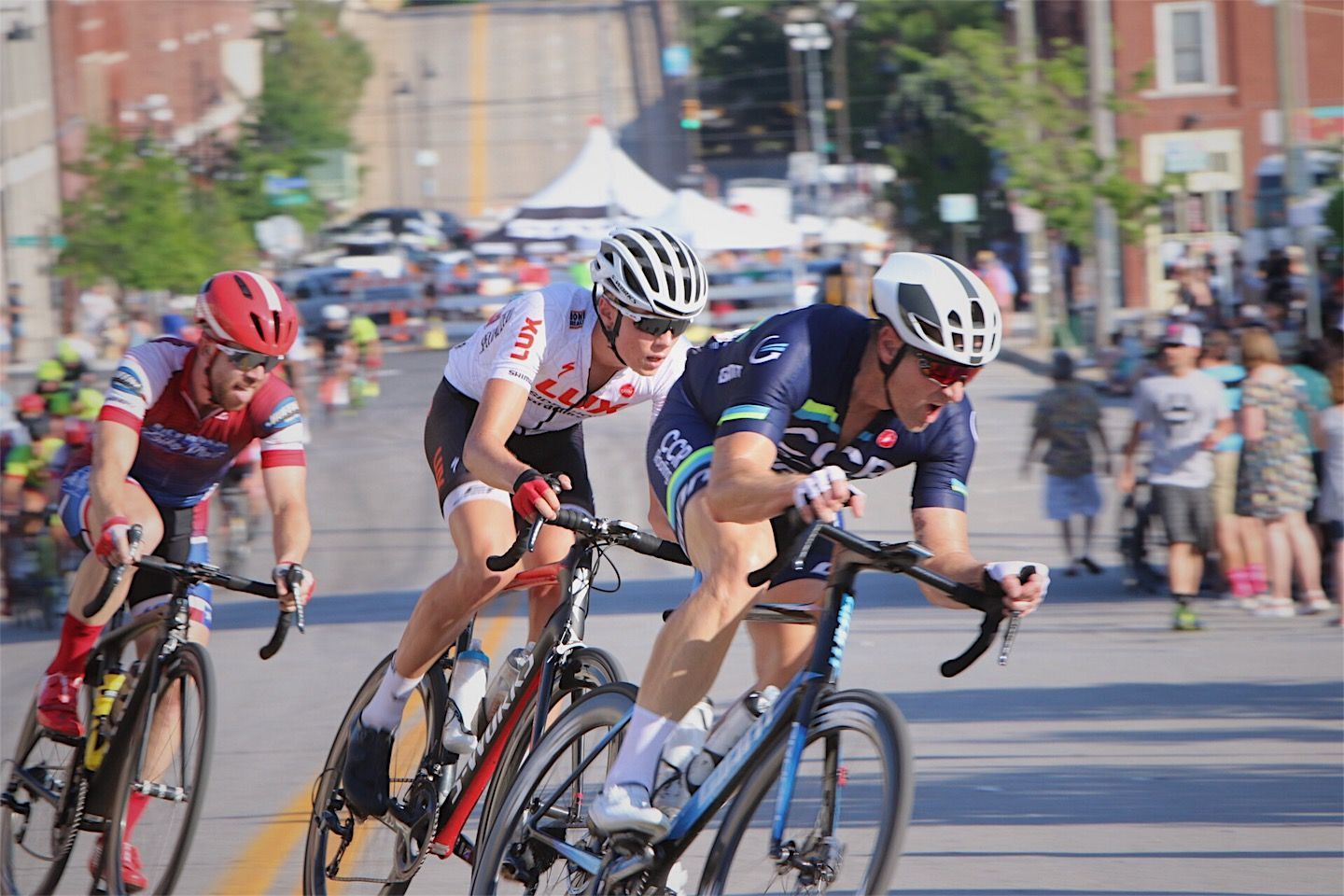 C.E. Byrd's Logan McLain [in white] cycled his way to several medals this year.